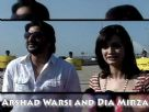Gorgeous Dia Mirza and Arshad Warsi at Worli Sea Link