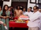Raveena Tandon at Mahurat of her flim Agni the Fire