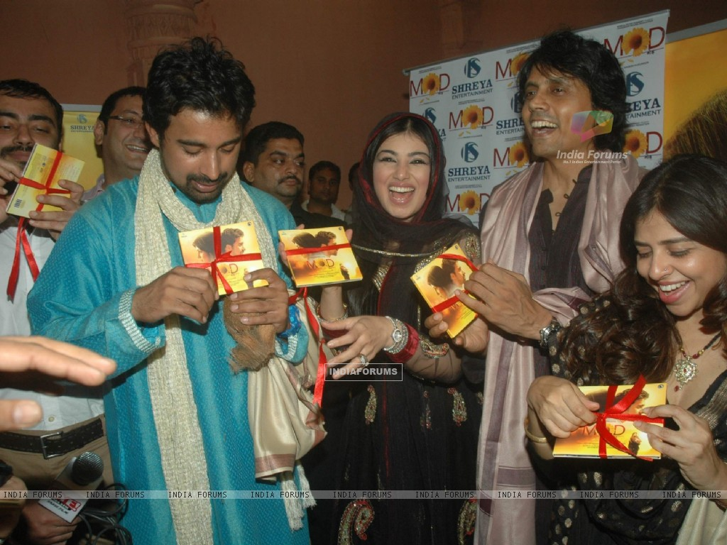 Ayesha Takia, Nagesh Kukunoor and Rannvijay at the audio launch of film MOD at Andheri Cha Raja (157469) size:1024x768
