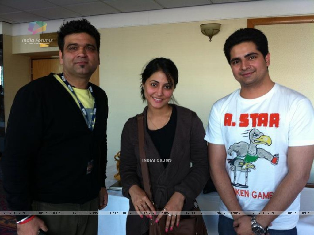 Hina Khan & Karan Mehra at BBC's office at London for an interview (165736) size:1024x768