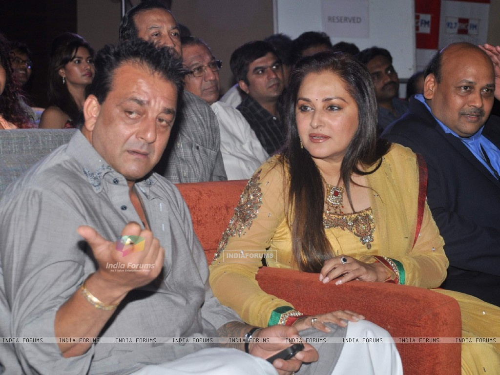 Bollywood actors Sanjay Dutt and Jaya Prada at Blockbuster magazine launch in Novotel, Mumbai. . (211783) size:1024x768