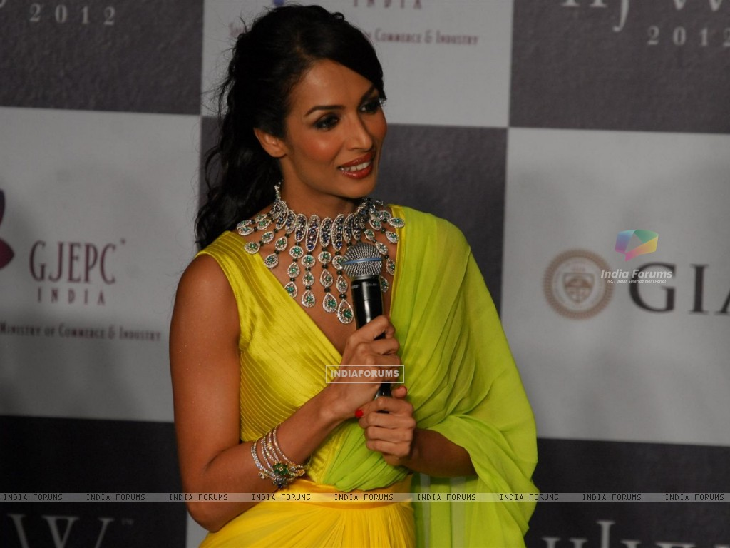 Malaika Arora Khan as showstopper at KGK Entice show on Day 4 of IIJW 2012 (222204) size:1024x768