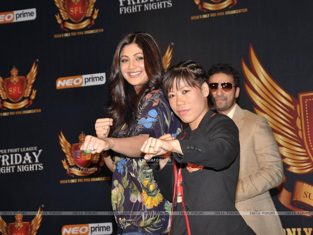 Shilpa Shetty, Raj Kundra and Mary Kom at SFL press meet (227634) size:1024x768