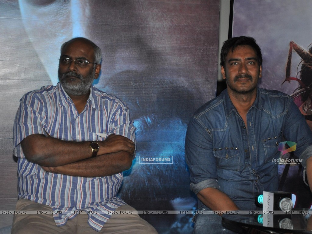 Ajay Devgn during the press conference for promotion of upcoming Hindi Film � Makkhi� (230460) size:1024x768