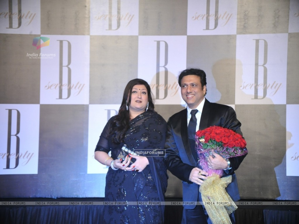 Govinda with wife Sunita at Amitabh Bachchan's 70th Birthday Party (231348) size:1024x768