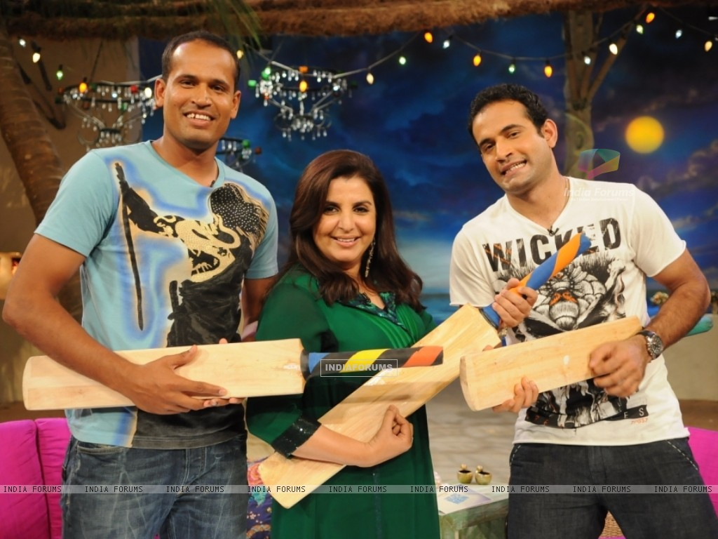 Farah Khan with Irfan and Yousuf Pathan (37556) size:1024x768
