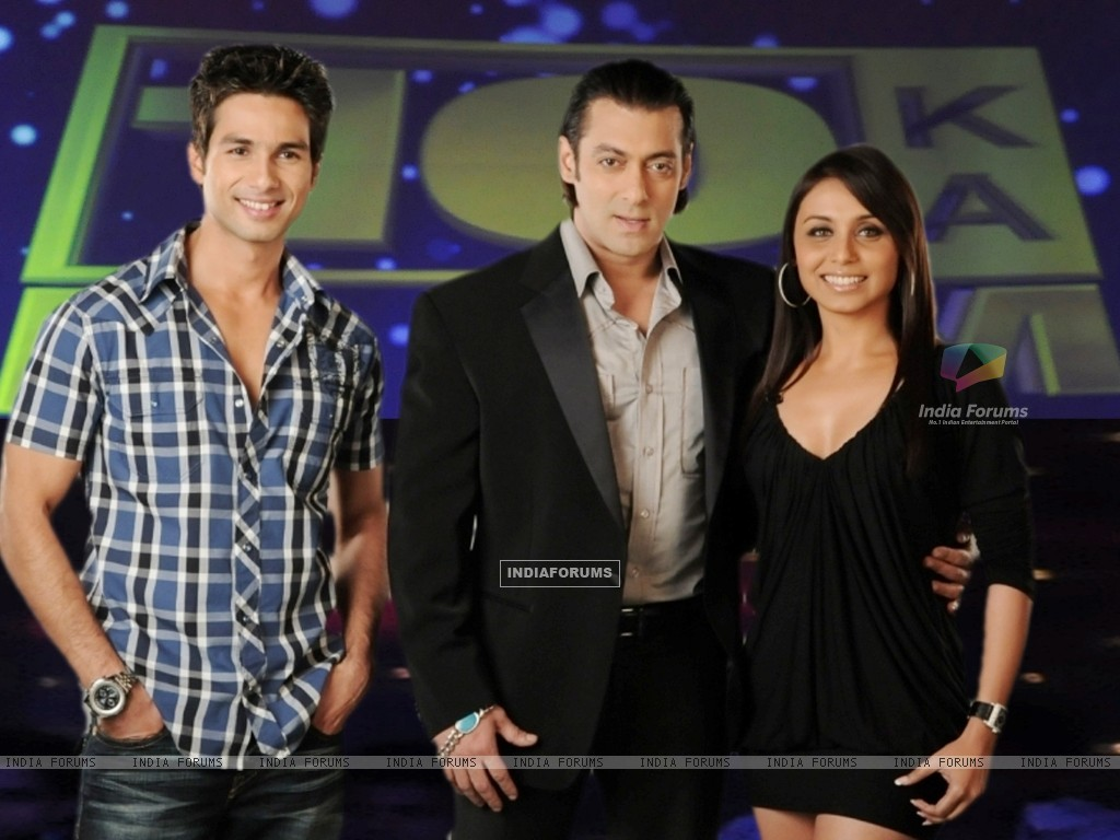Salman Khan with Shahid Kapoor and Rani Mukherjee (37742) size:1024x768