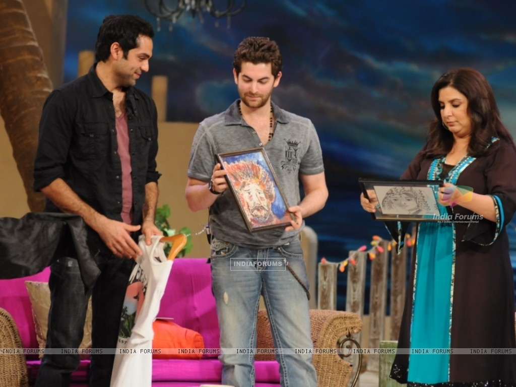 Neil Nitin Mukesh and Abhay Deol with Farah Khan (38537) size:1024x768