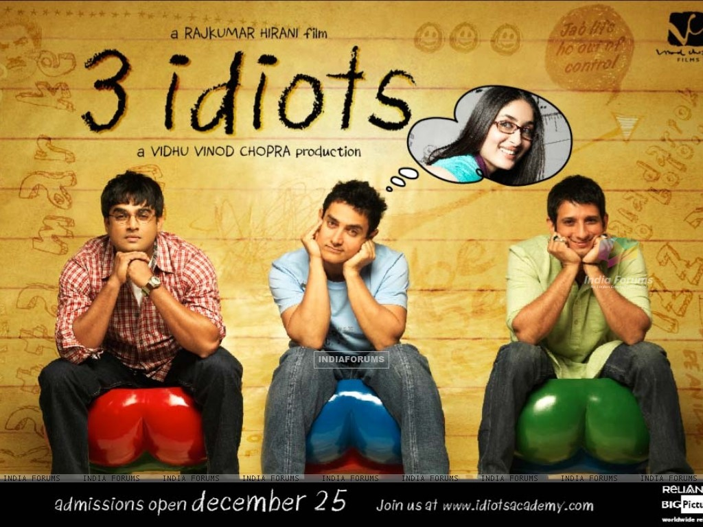 Wallpaper of the movie 3 Idiots (40300) size:1024x768