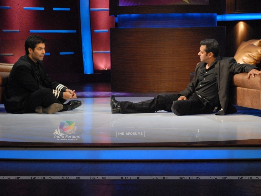 Karan Johar and Salman Khan in tv show Lift Kara De (41719) size:1024x768