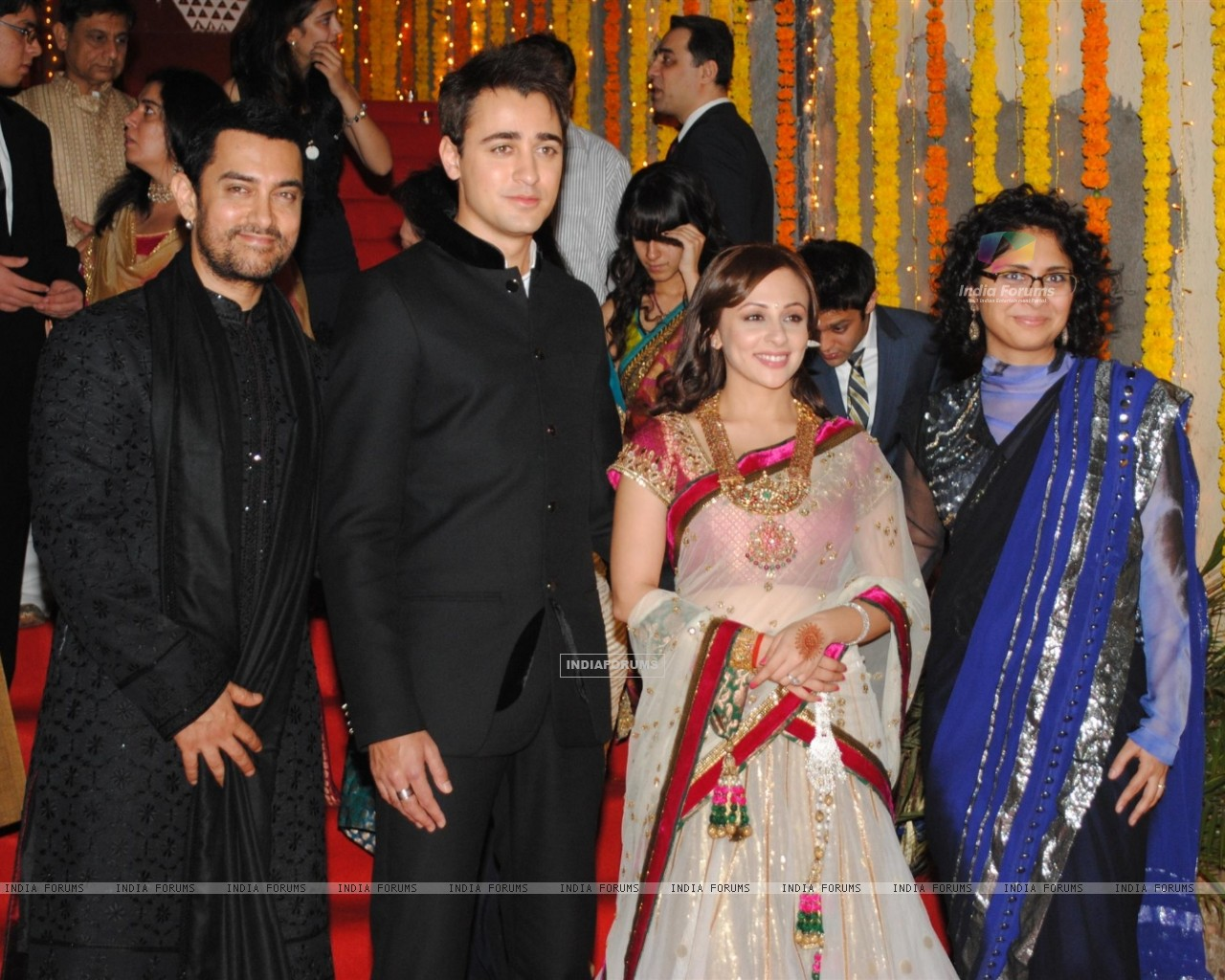 "image titled ""Aamir Khan with Kiran Rao at nephew Imran Khan's wedding"