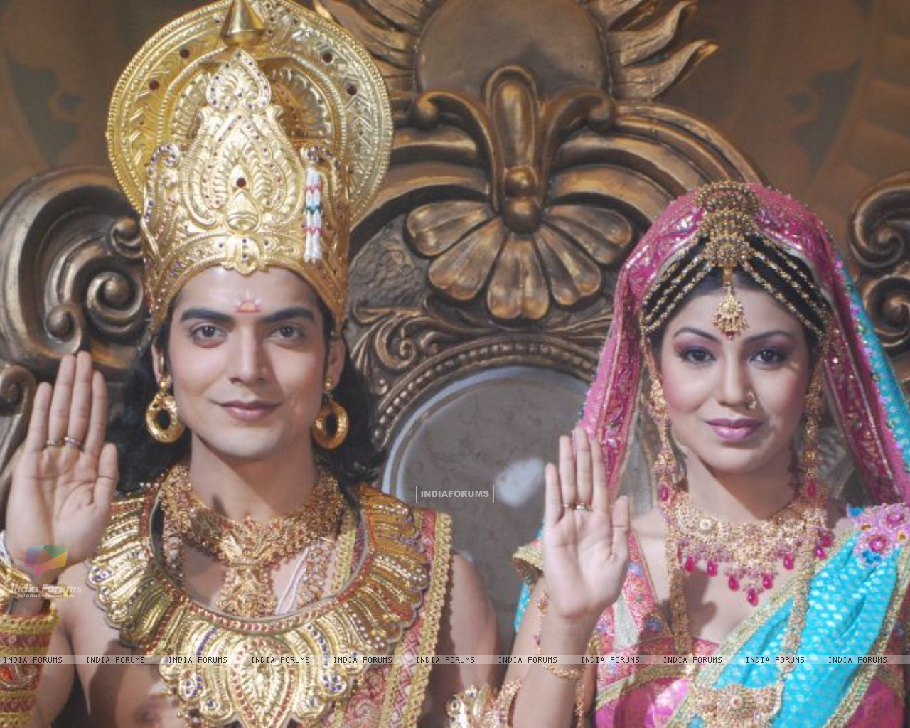 Gurmeet & Debina from NDTV Imagine's Ramayan (170597) size:1280x1024