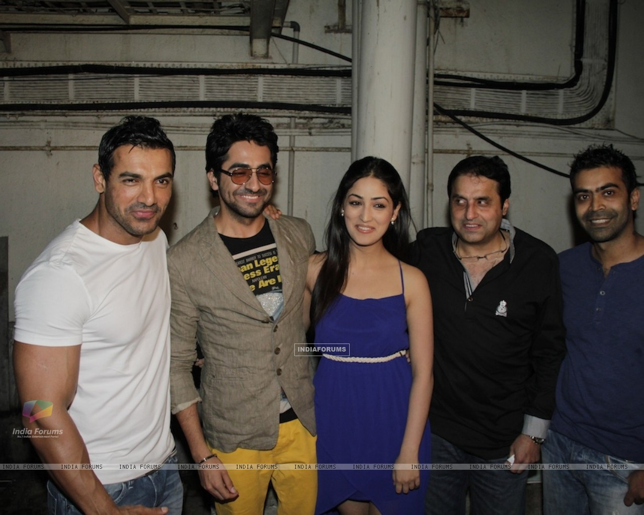 John Abraham, Ayushman, Yami Gautam at Vicky Donor special screening hosted by John Abraham at PVR (194716) size:1280x1024