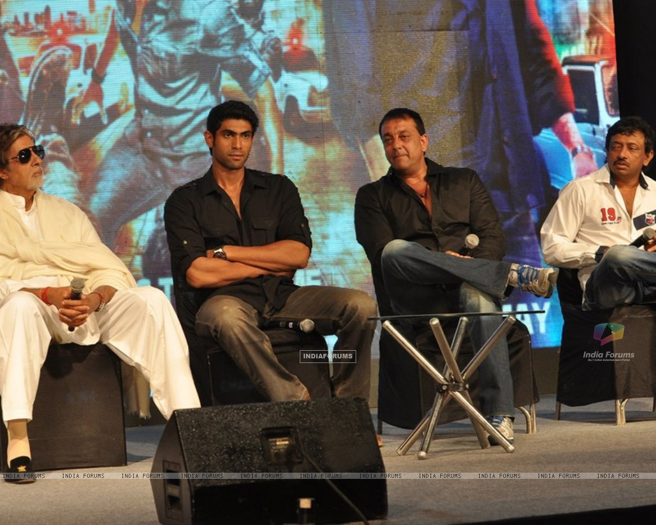 Amitabh Bachchan, Rana Daggubati, Sanjay Dutt and Ram Gopal Verma at 'Department' film press meet (195795) size:1280x1024