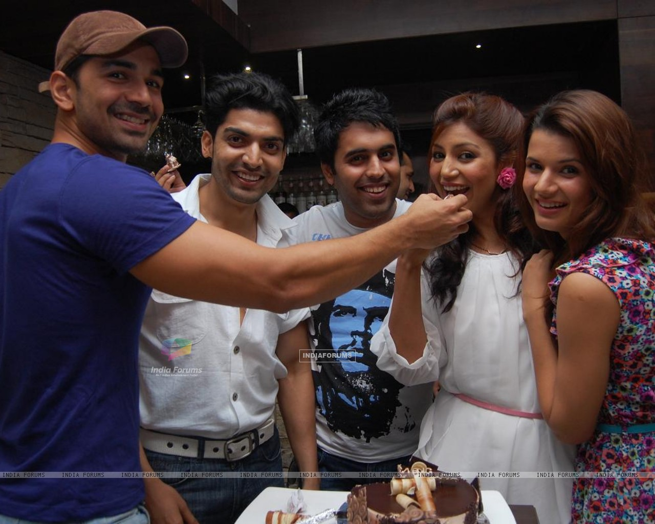 Gurmeet, Debina with Abhinav Shukla & friends (198615) size:1280x1024
