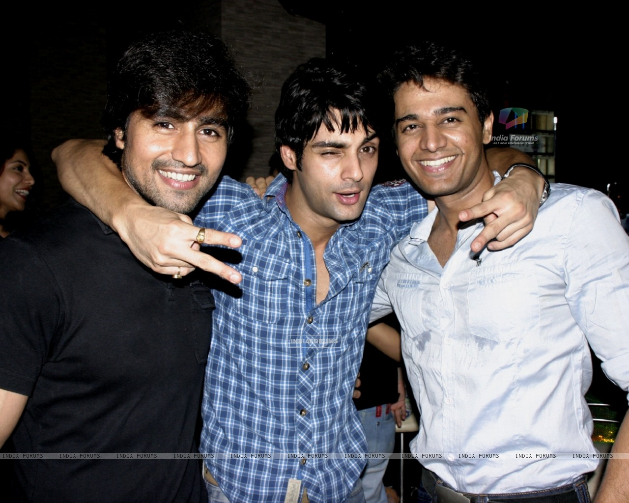 Harshad Chopra, Karan Wahi and Gaurav Khanna at Karan Wahi Birthday Party (206680) size:1280x1024