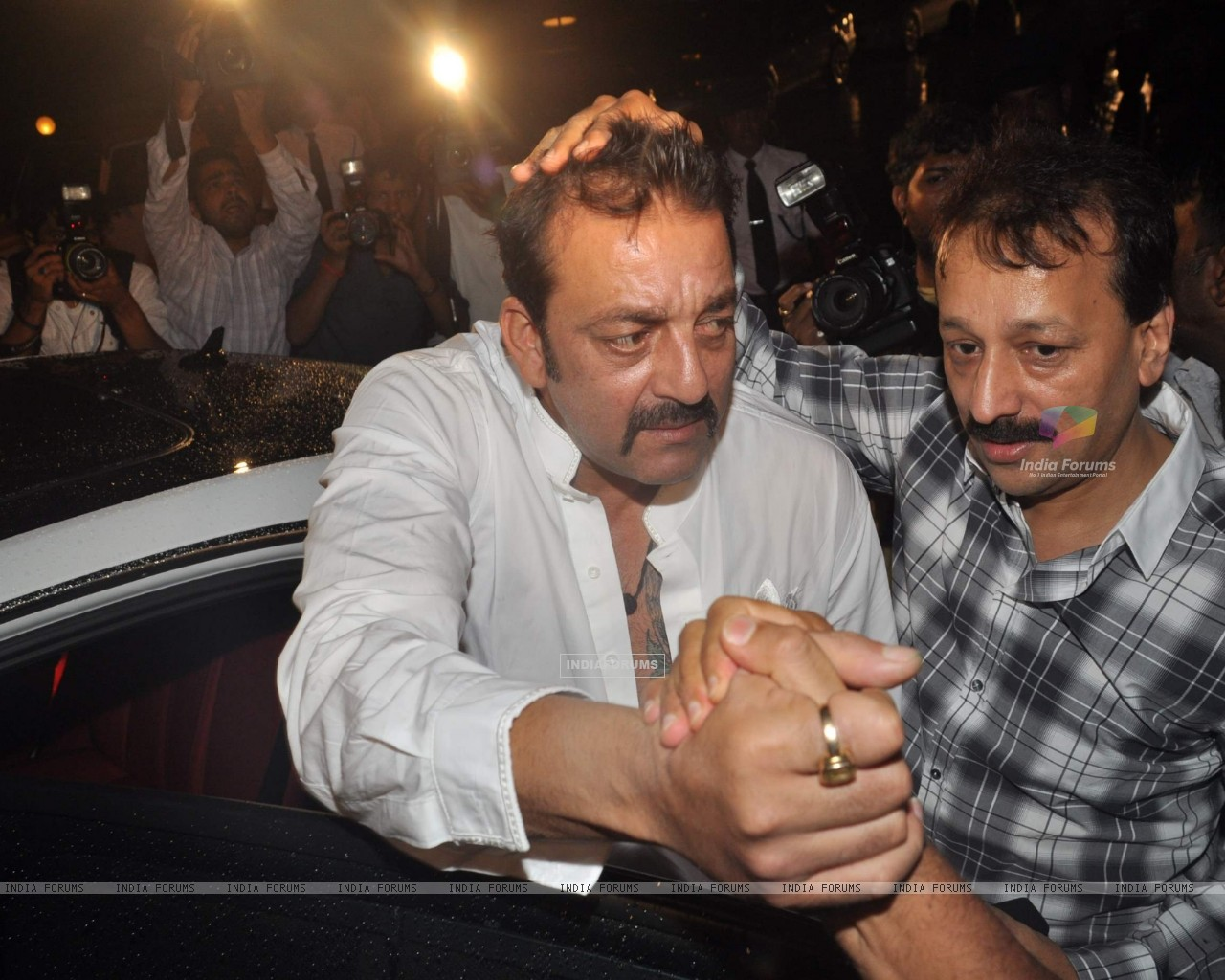 Bollywood actor Sanjay Dutt at Baba Siddique's Iftar party in Taj Lands End, Mumbai . (216034) size:1280x1024