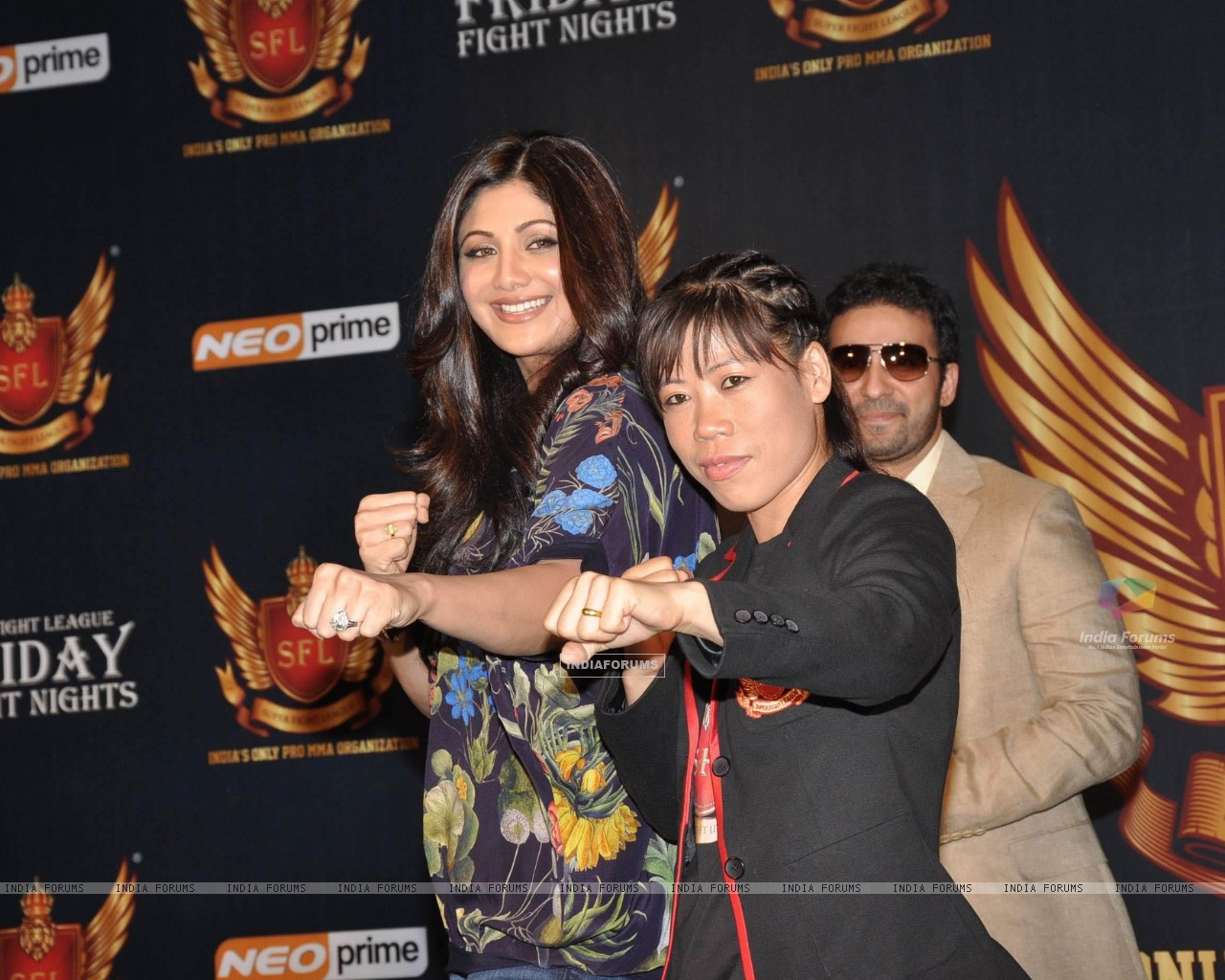 Shilpa Shetty, Raj Kundra and Mary Kom at SFL press meet (227634) size:1280x1024