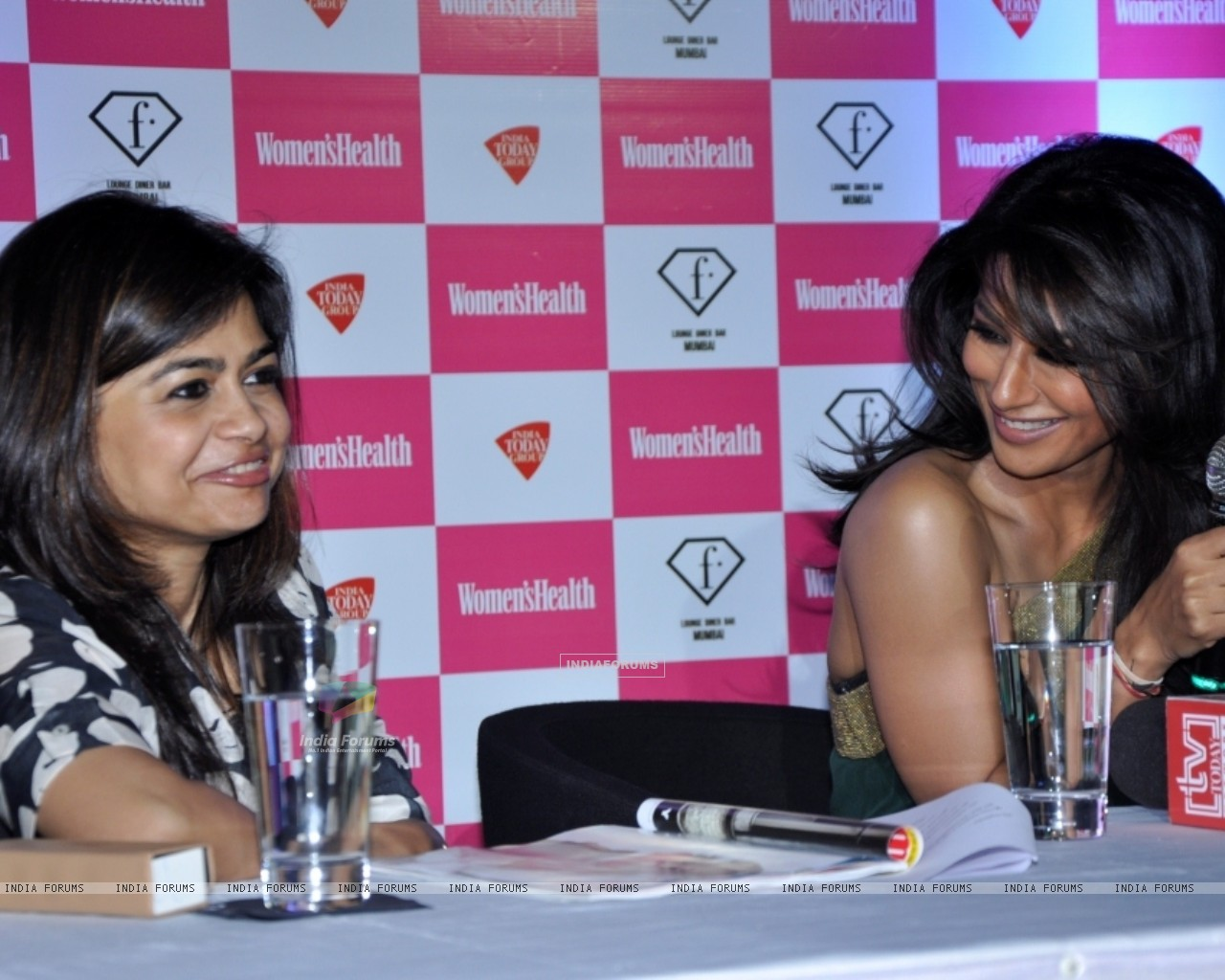 Bollywood actress Chitrangada Singh launched Women's Health magazine in a press conference in Mumbai. (230187) size:1280x1024