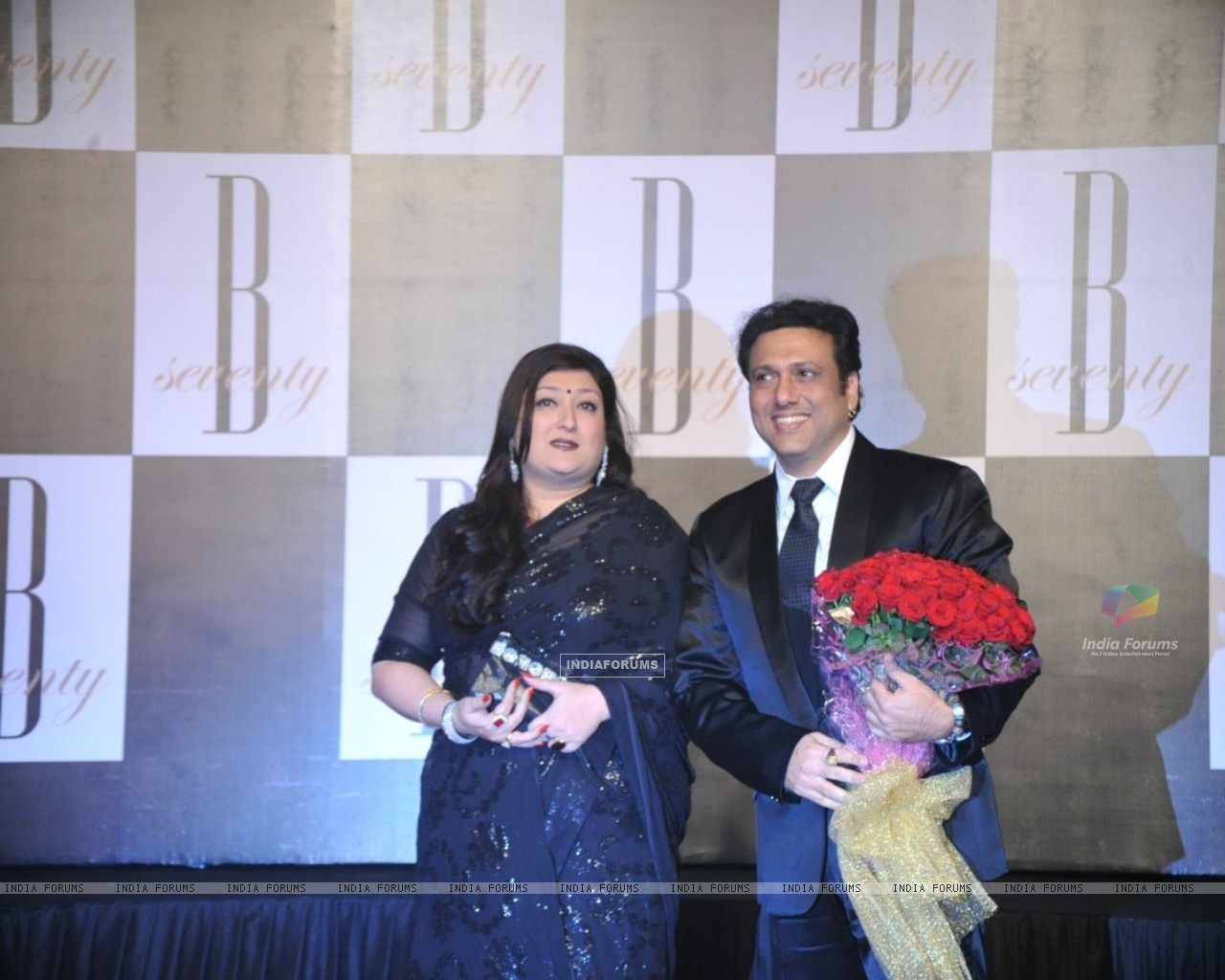 Govinda with wife Sunita at Amitabh Bachchan's 70th Birthday Party (231348) size:1280x1024