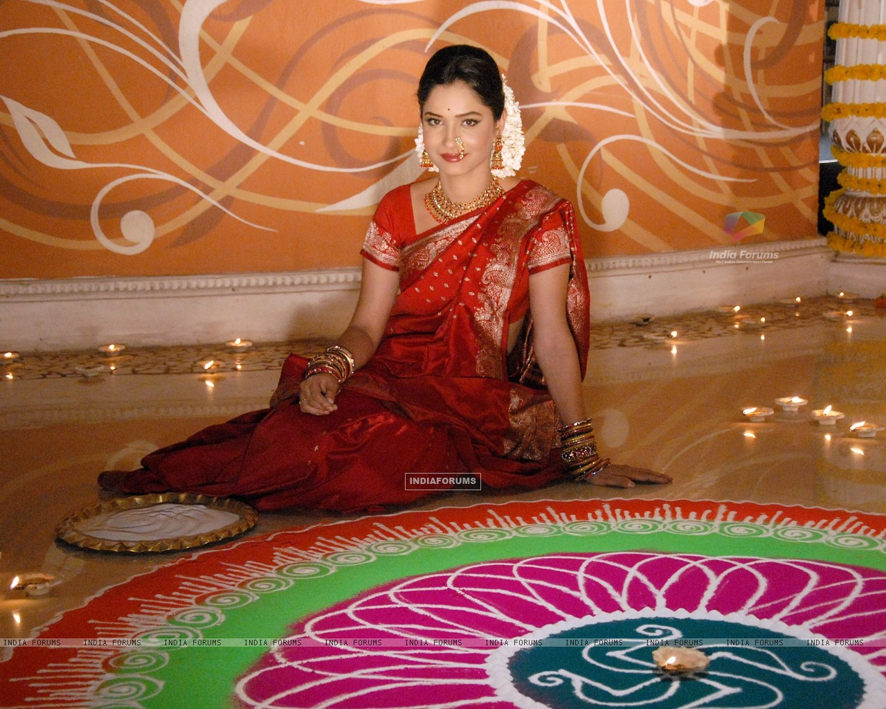 Ankita Lokhande celebrating Zee TV's Diwali (237709) size:1280x1024