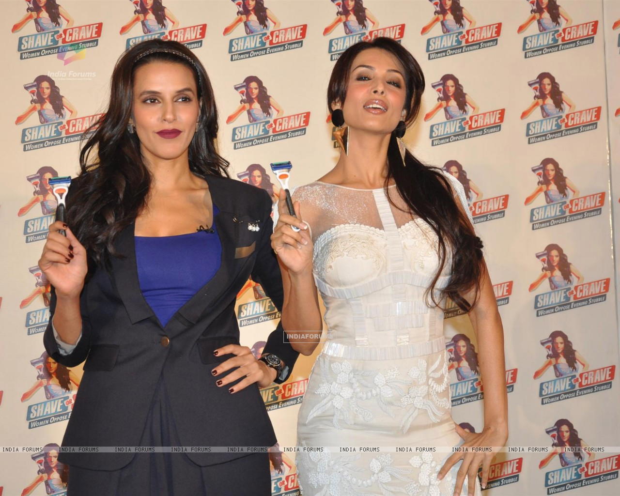 Neha Dhupia and Malaika Arora Khan at Gillette 'Shave or Crave' event (238213) size:1280x1024