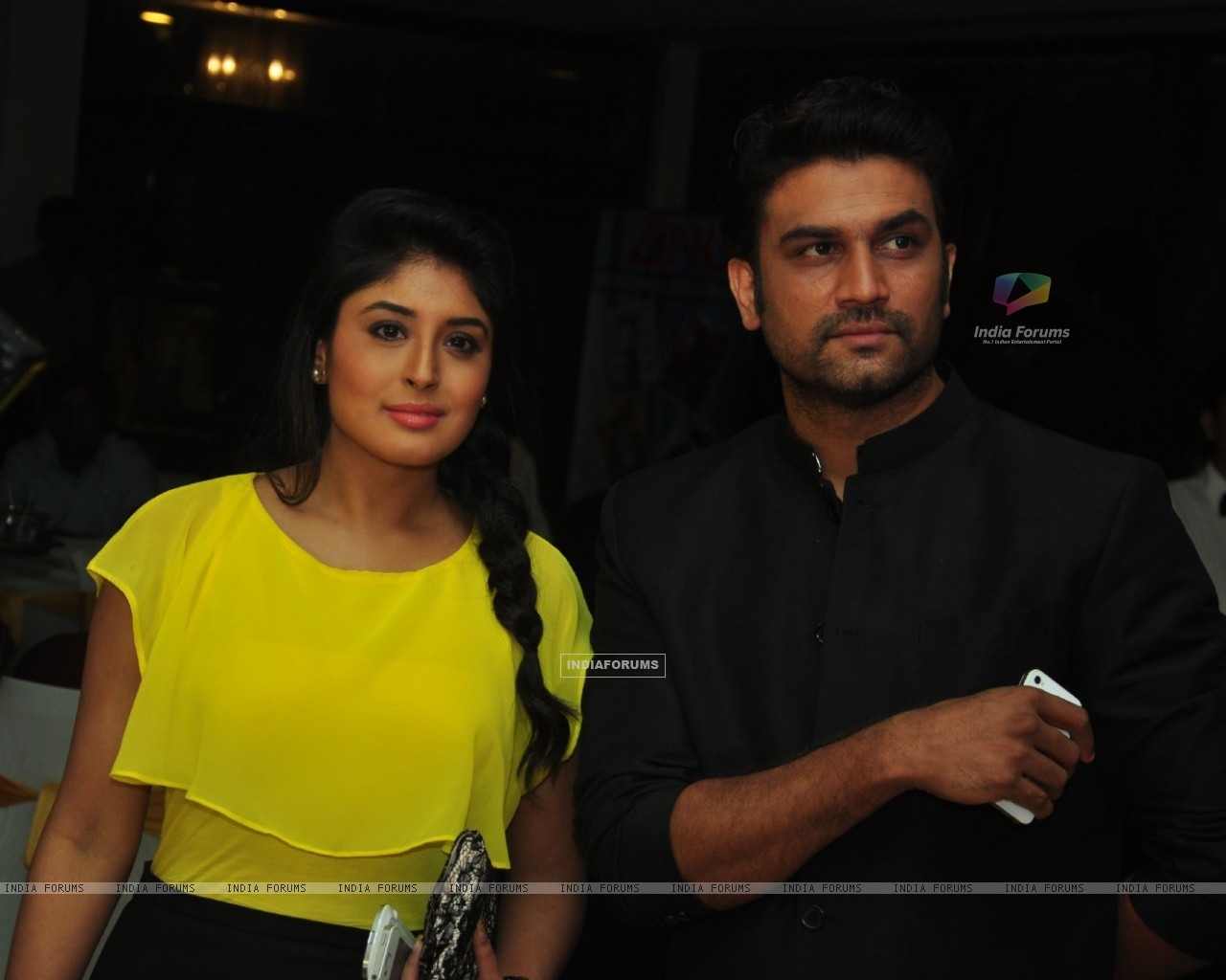 Kritika Kamra & Sharad Kelkar at the celebration of India Forums 9th Anniversary (248888) size:1280x1024