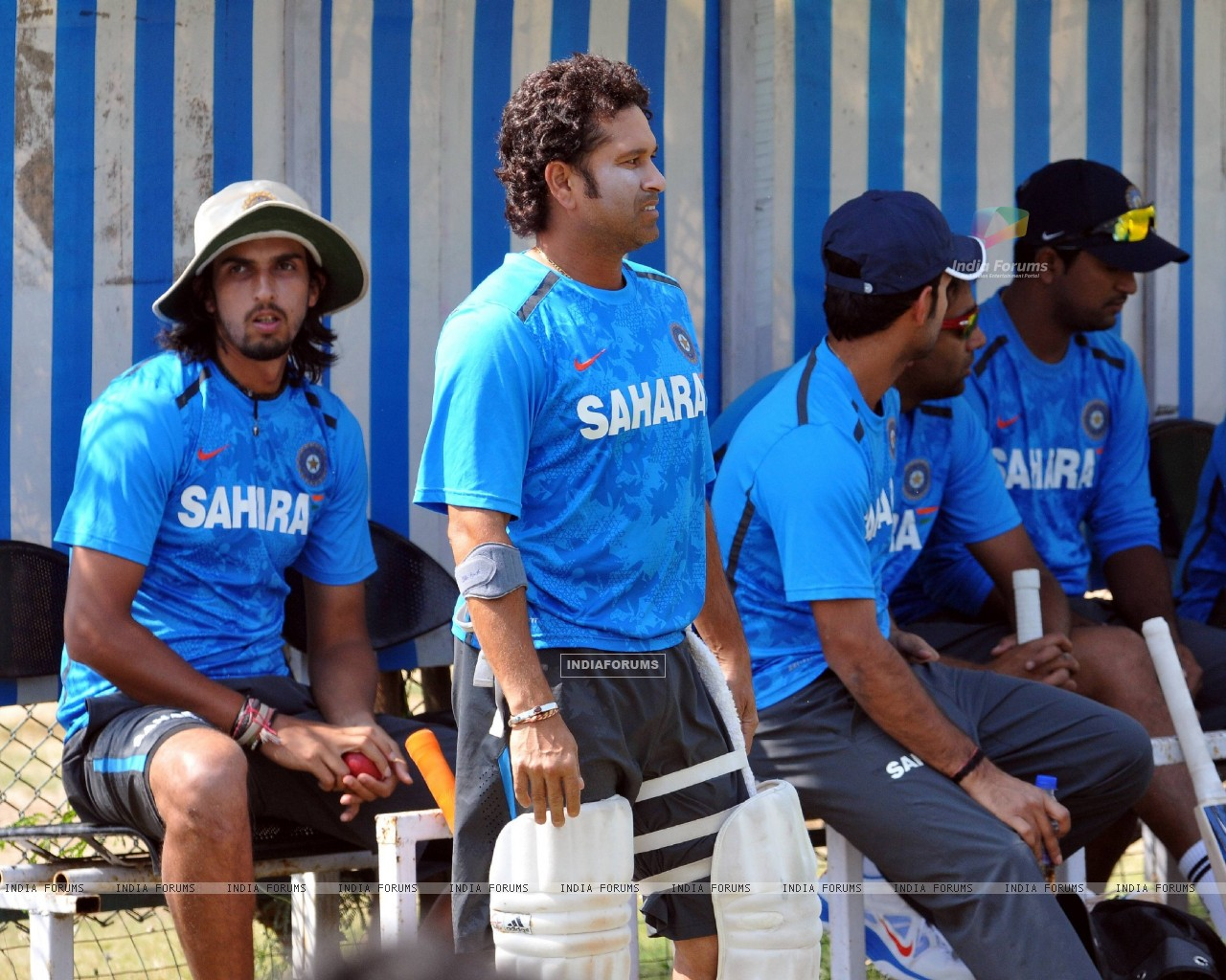 Indian Cricket Team At A Practice Session Before The Second