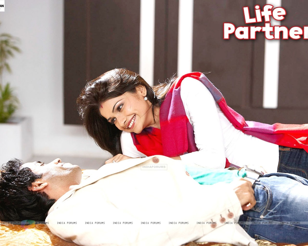 Wallpaper of Life Partner movie with Tusshar and Prachi (31436) size:1280x1024