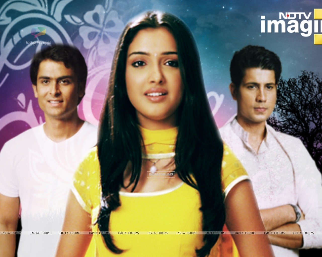 Amrapali, Shoaib and Sumit as Suman, Karan and Kartik in Rehna Hai Teri Palkon ki Chaaon Mein (32262) size:1280x1024