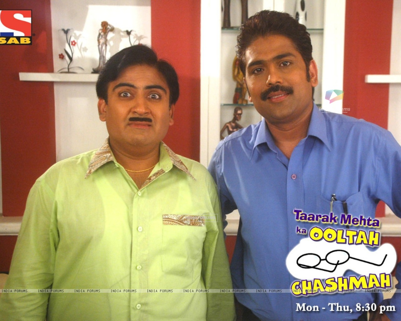 Dilip Joshi and Sailesh Lodha (33634) size:1280x1024