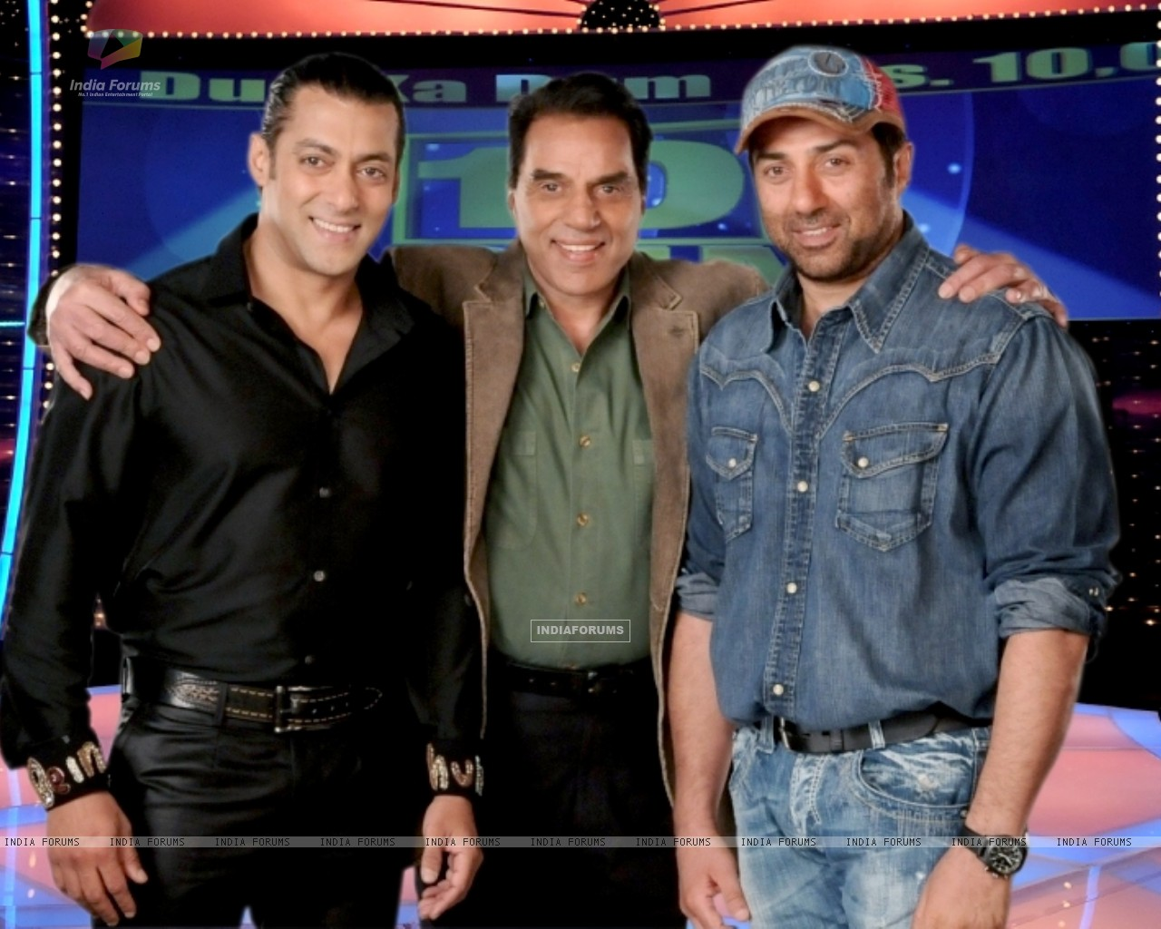 Salman Khan with Dharmendra and Sunny Deol (37482) size:1280x1024