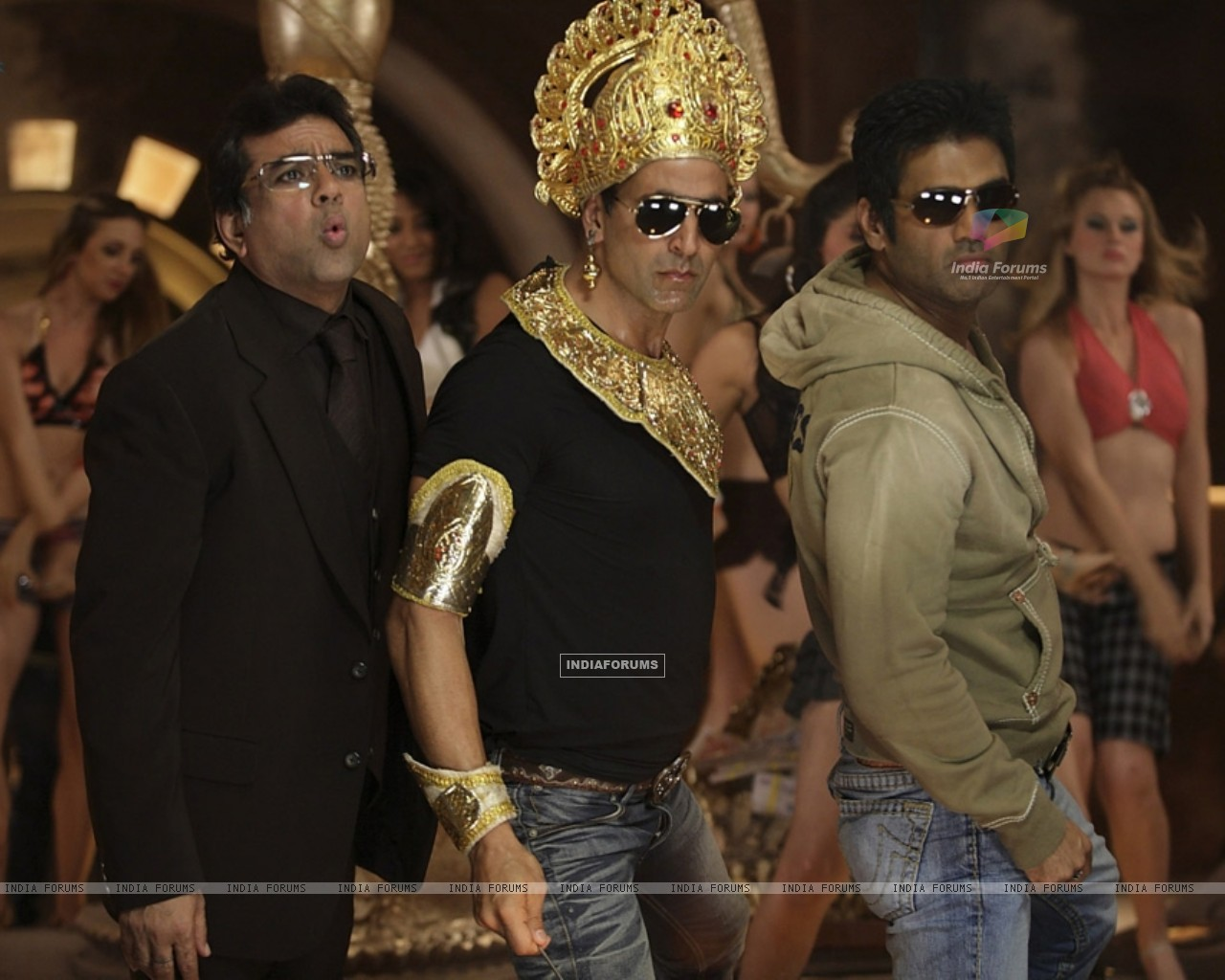 Still image of Akshay Kumar, Paresh Rawal and Sunil Shetty (38749) size:1280x1024