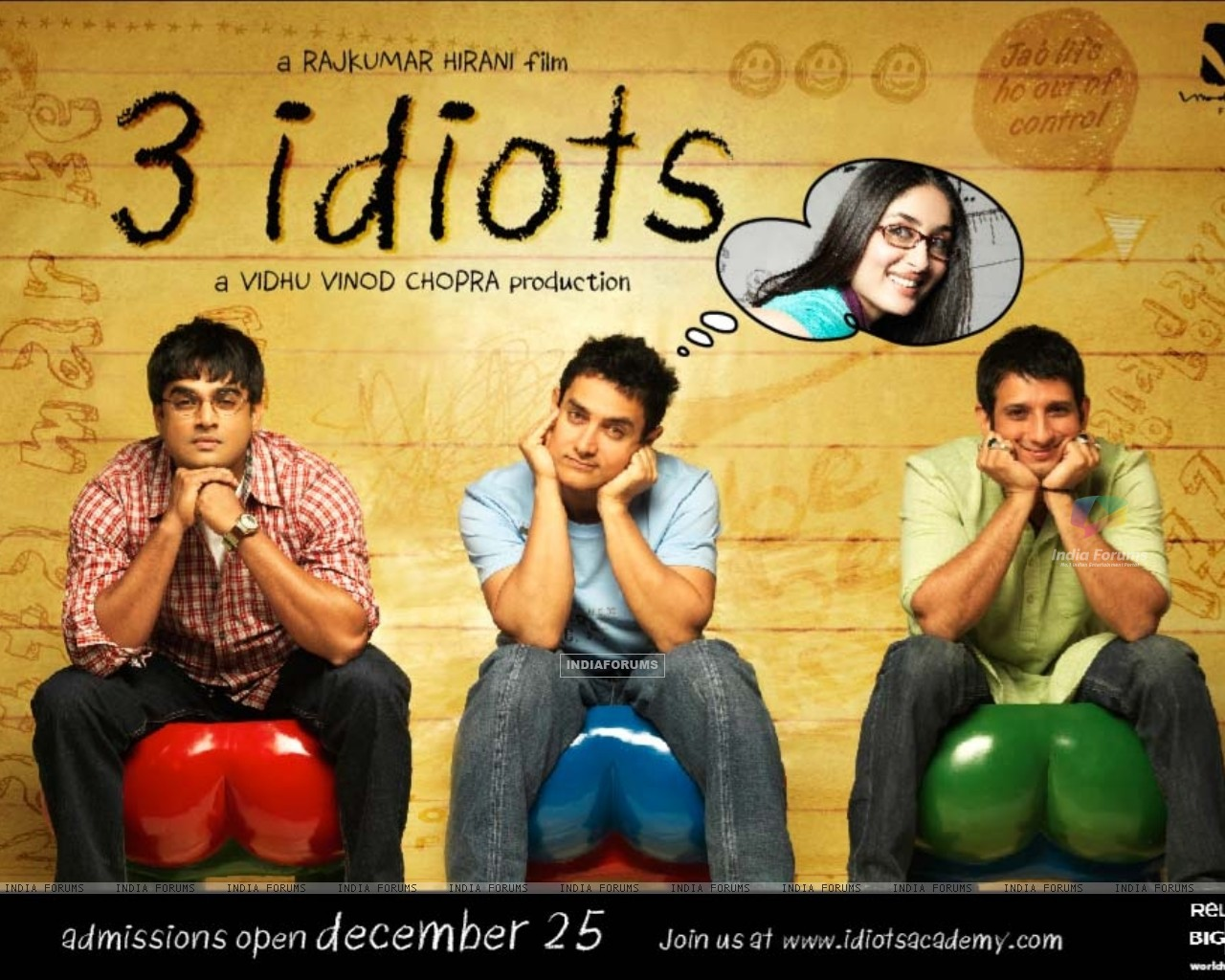 Wallpaper of the movie 3 Idiots (40300) size:1280x1024