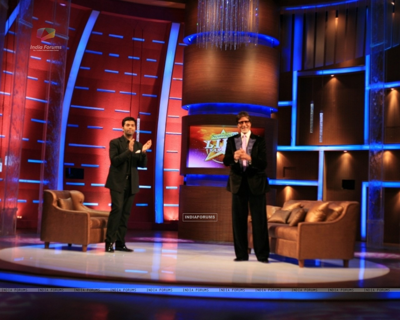 Karan Johar and Amitabh Bachchan on tv show Lift Kara De (42349) size:1280x1024