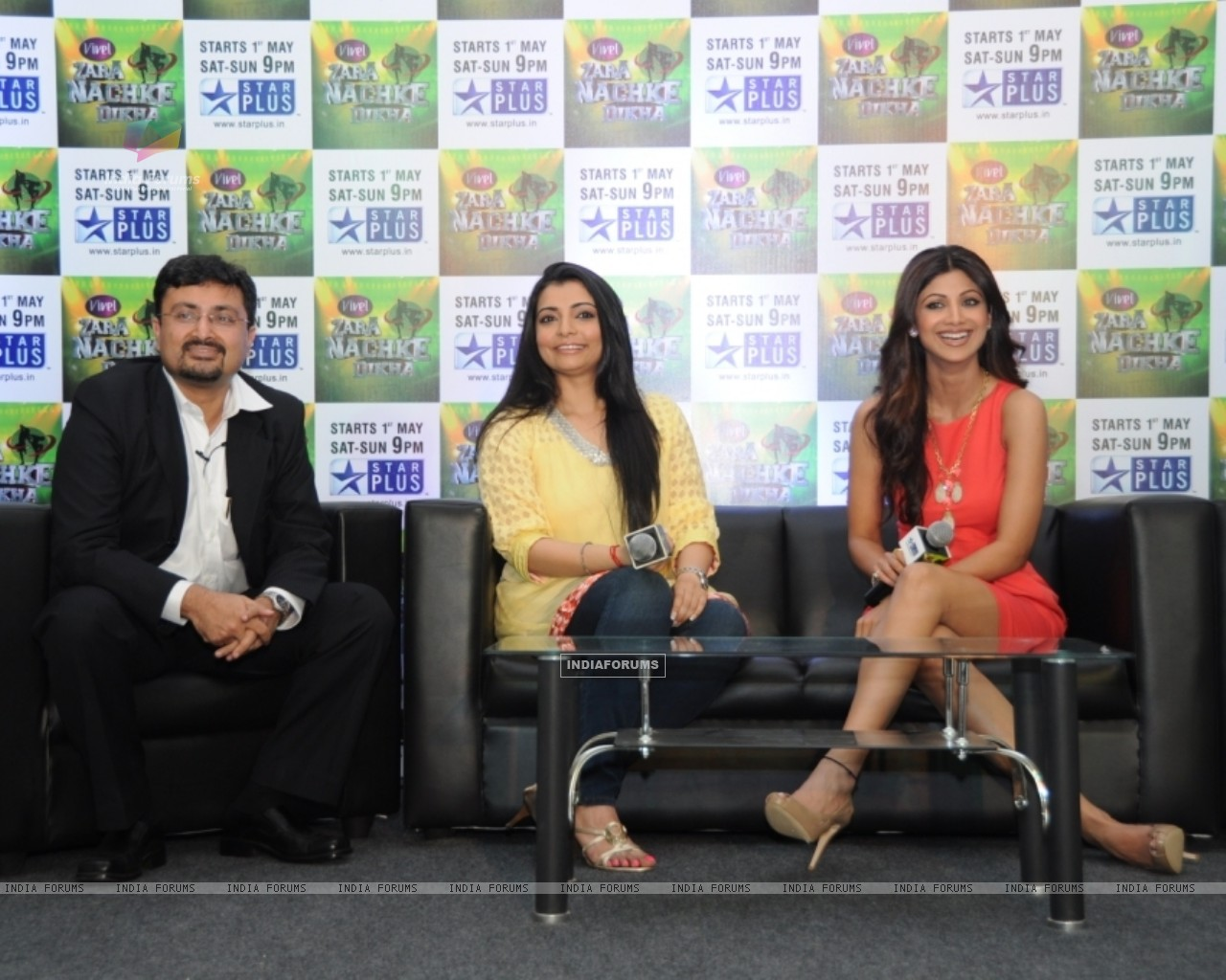 Anupam Vasudev (evp Marketing Star Plus), Vaibhavi Merchant and Shilpa Shetty (60220) size:1280x1024