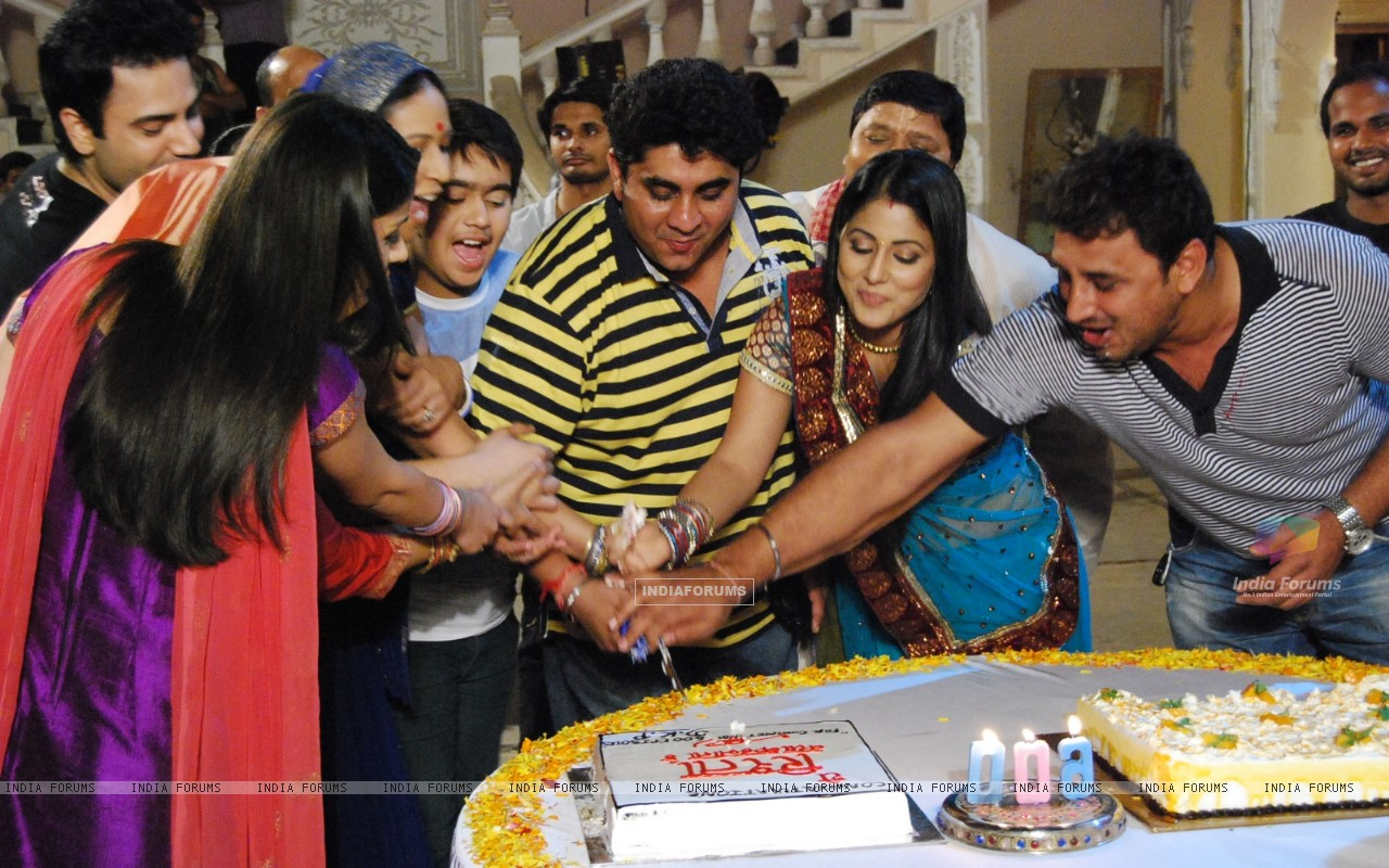 Cake Cutting of Ye Rishta Kya Kehlata Hai for completing 600 episodes (131011) size:1280x800