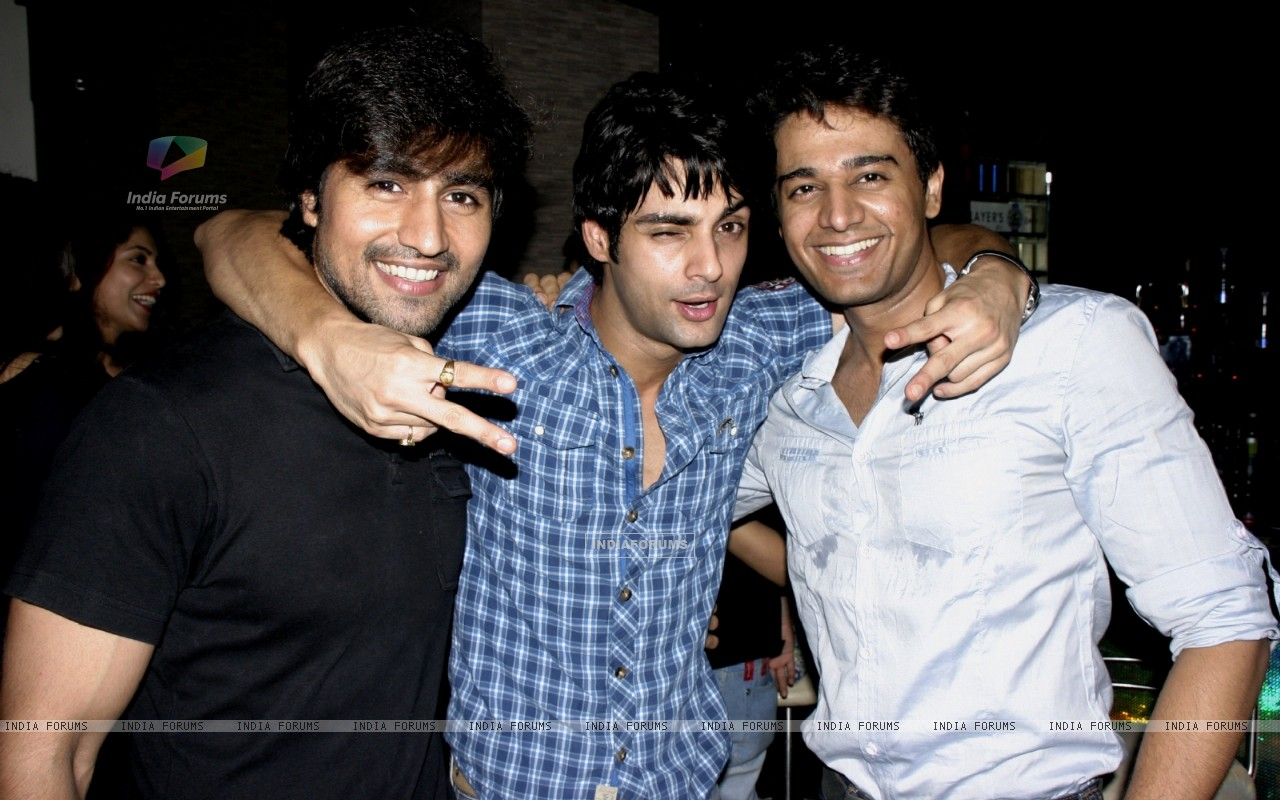 Harshad Chopra, Karan Wahi and Gaurav Khanna at Karan Wahi Birthday Party (206680) size:1280x800