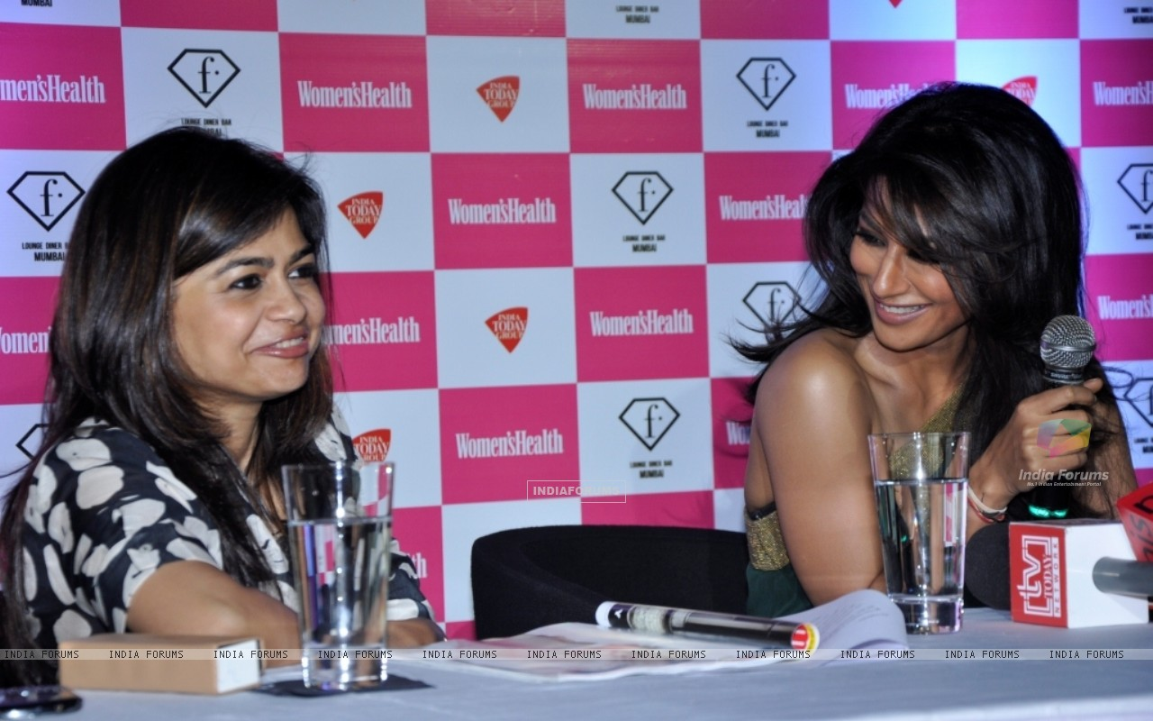 Bollywood actress Chitrangada Singh launched Women's Health magazine in a press conference in Mumbai. (230187) size:1280x800