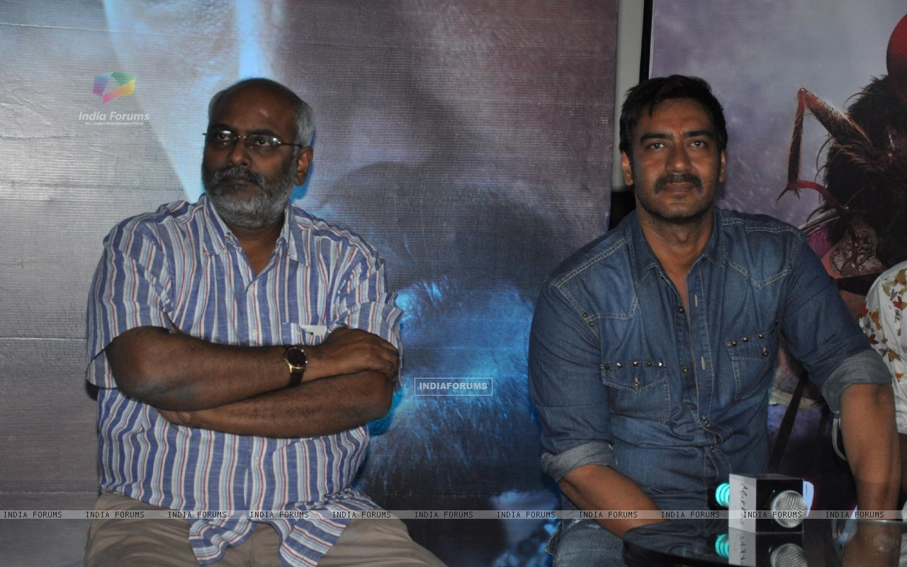Ajay Devgn during the press conference for promotion of upcoming Hindi Film � Makkhi� (230460) size:1280x800