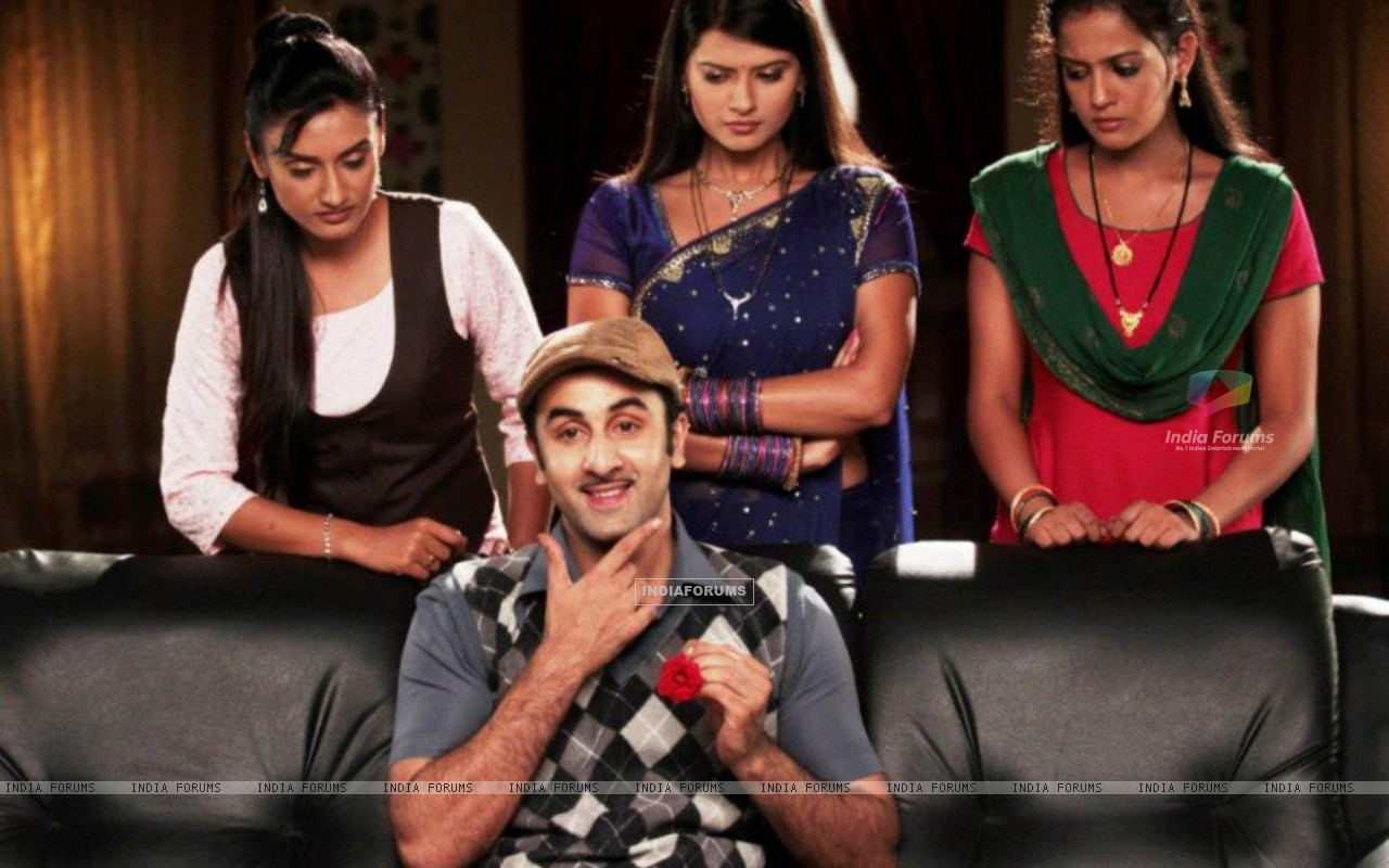 Ranbir Kapoor with Zee TV actresses (231902) size:1280x800