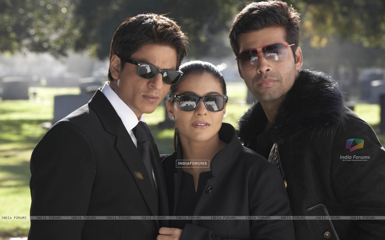 Still of Shahrukh, Kajol and Karan Johar (40299) size:1280x800