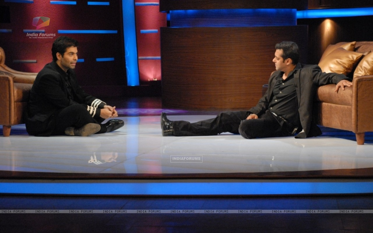 Karan Johar and Salman Khan in tv show Lift Kara De (41719) size:1280x800