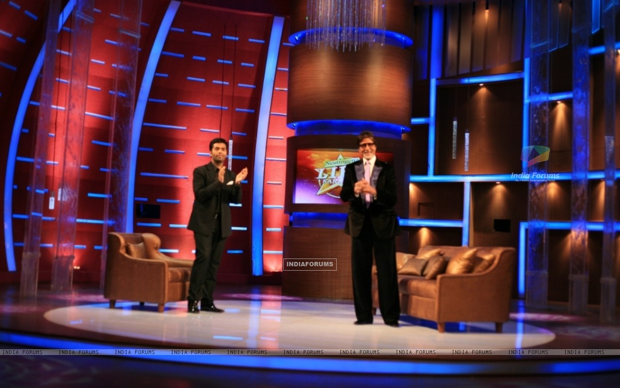 Karan Johar and Amitabh Bachchan on tv show Lift Kara De (42349) size:1280x800