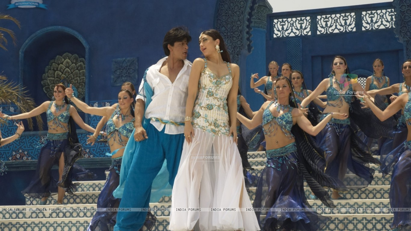 Shahrukh and Kareena in marjani song (11097) size:1366x768