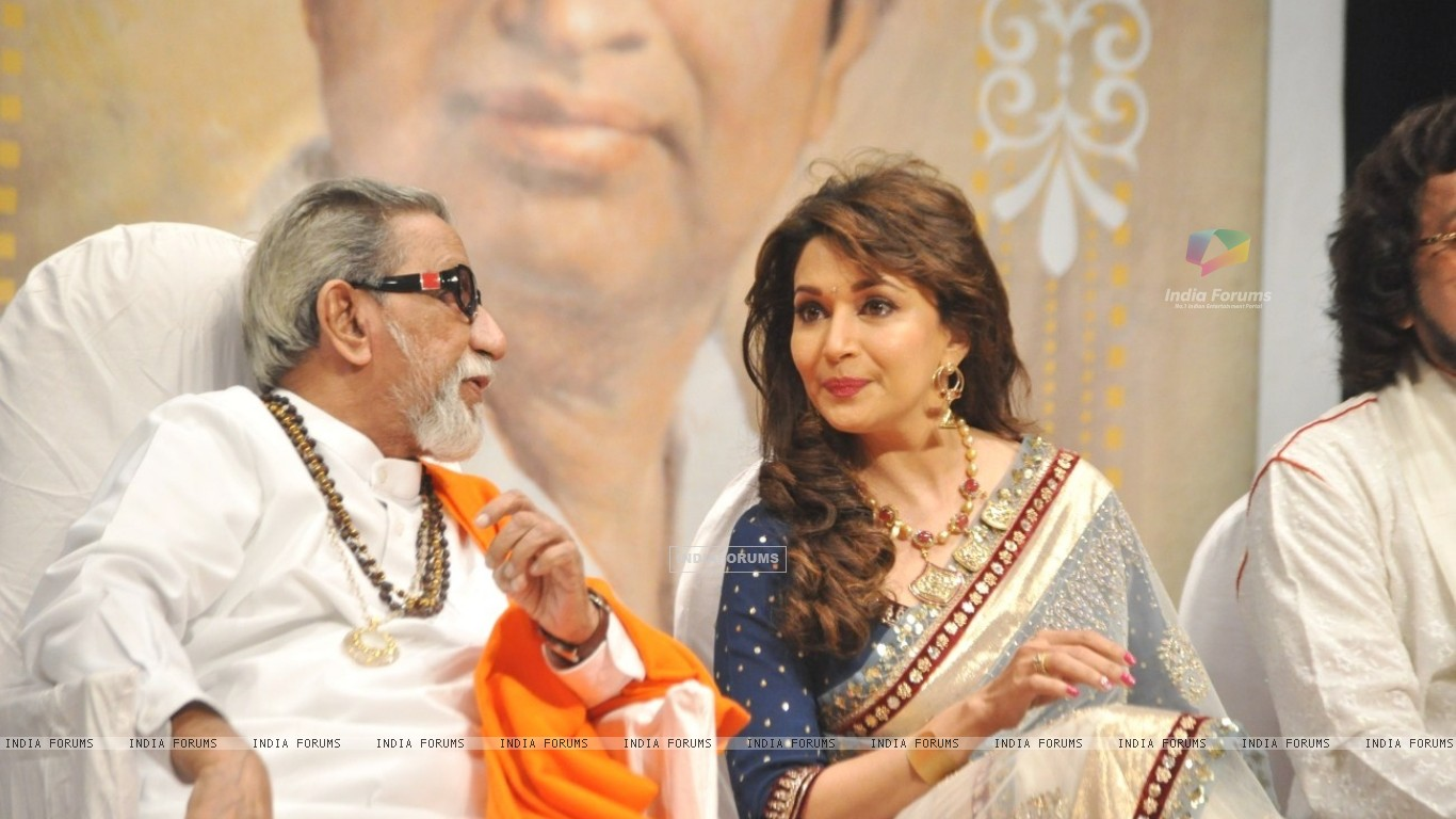 Madhuri Dixit Nene And Balasaheb Thackeray Master Dinanath