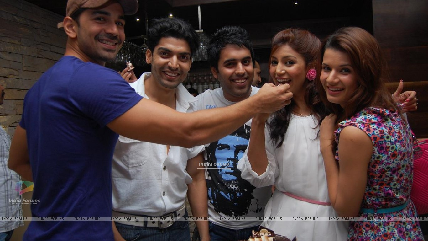 Gurmeet, Debina with Abhinav Shukla & friends (198615) size:1366x768