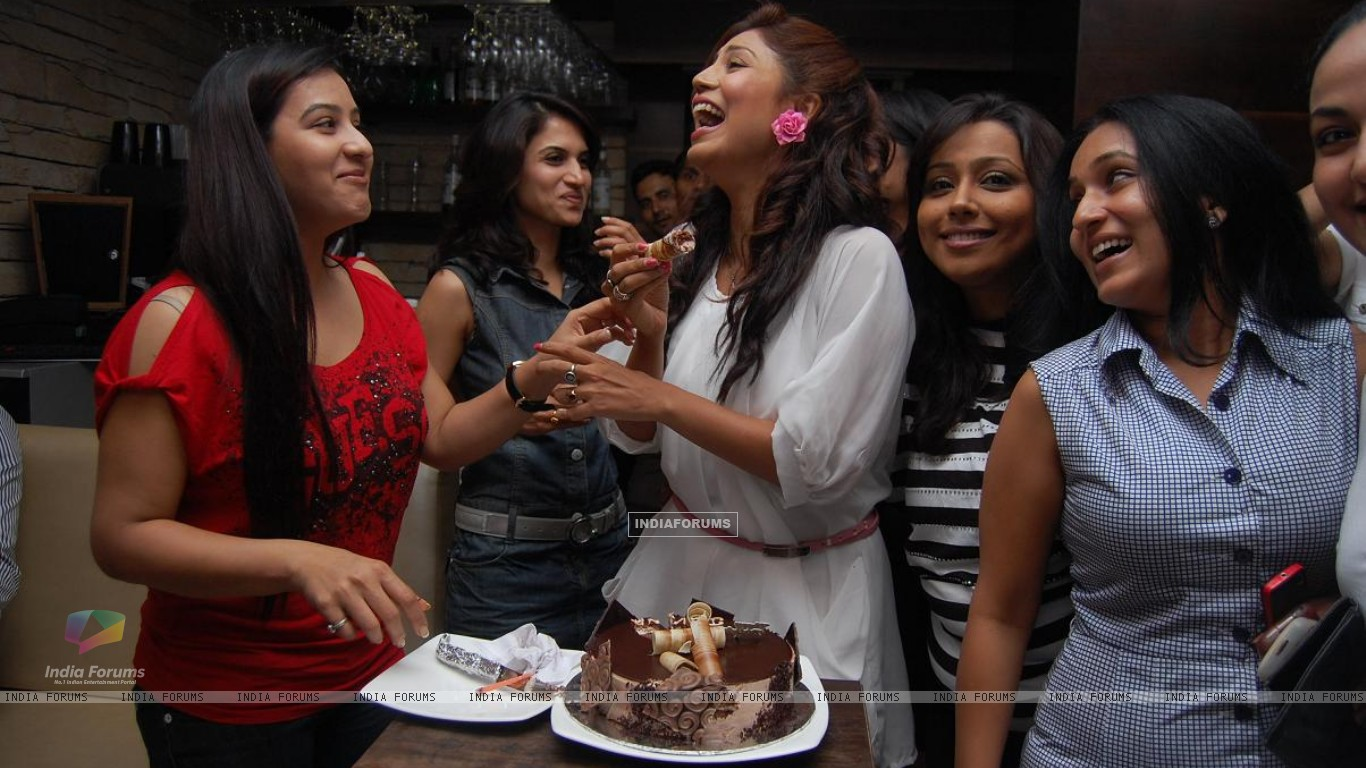 Debina & Shilpa Shinde with friends (198616) size:1366x768