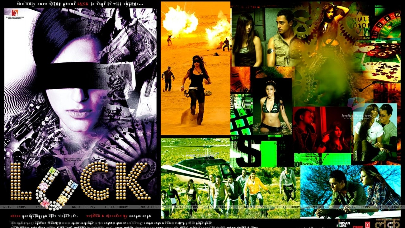 Wallpaper of Luck movie with Shruti and Imran (20319) size:1366x768