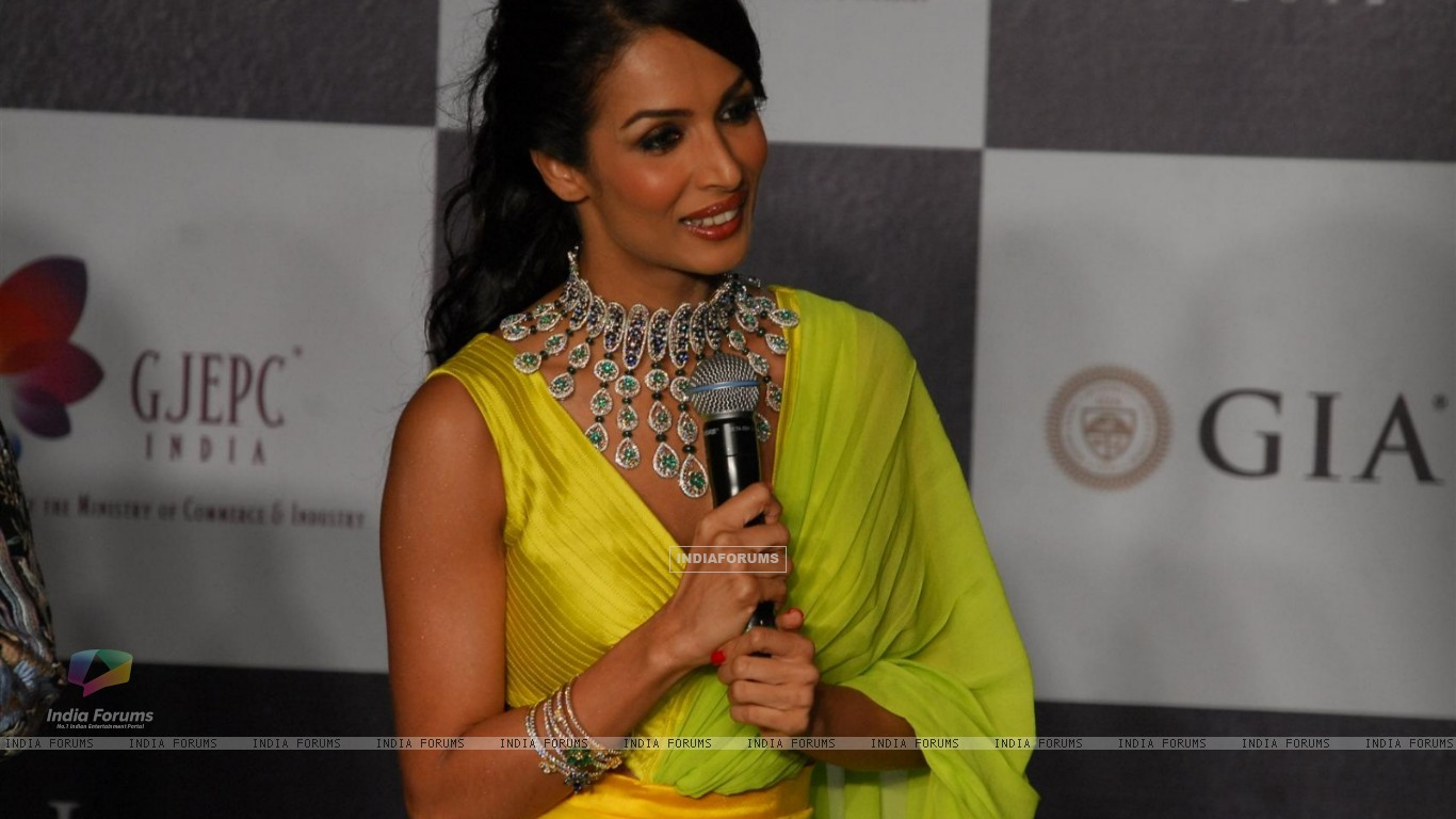 Malaika Arora Khan as showstopper at KGK Entice show on Day 4 of IIJW 2012 (222204) size:1366x768